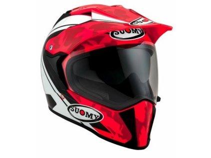 Helma na motorku SUOMY MX Tourer desert RED