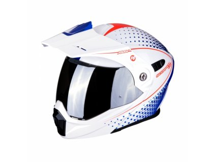 Moto přilba SCORPION ADX-1 HORIZON bílo/červeno/modrá