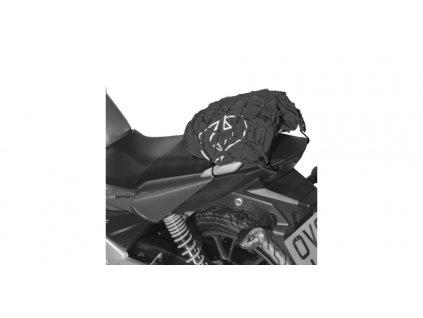 Pružná zavazadlová síť pro motocykly, OXFORD (27 x 25 cm, černá/reflexní)