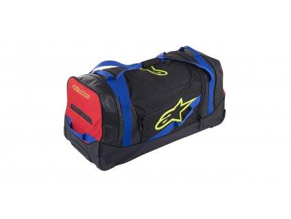 Cestovní taška KOMODO, ALPINESTARS (černá/modrá/červená/žlutá fluo, objem 150 l)