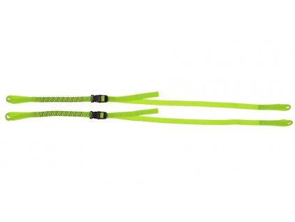 Popruhy ROK straps LD Commuter nastavitelné, OXFORD (reflexní zelená, šířka 12 mm, pár)