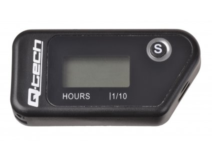 Měřič motohodin bezdrátový s nulovatelným počítadlem, Q-TECH (černý)