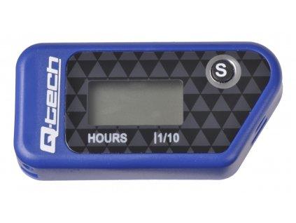Měřič motohodin bezdrátový s nulovatelným počítadlem, Q-TECH (modrý)