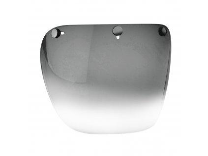 Plexi štít s připínáním na druky (čirý s protislunečním pruhem), NOX