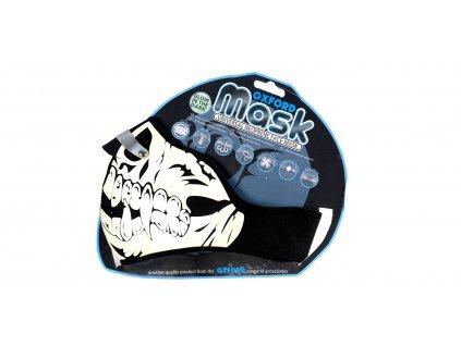 Maska Glow Skull, OXFORD (fluorescenční potisk)
