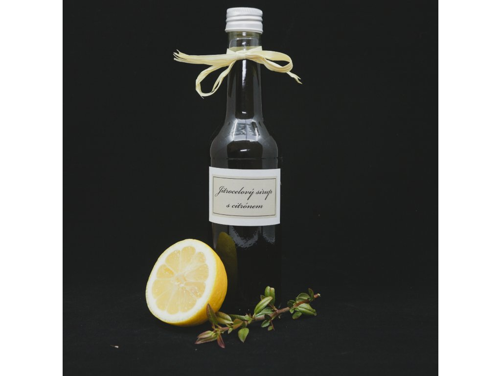 Jitrocelový sirup s citronem