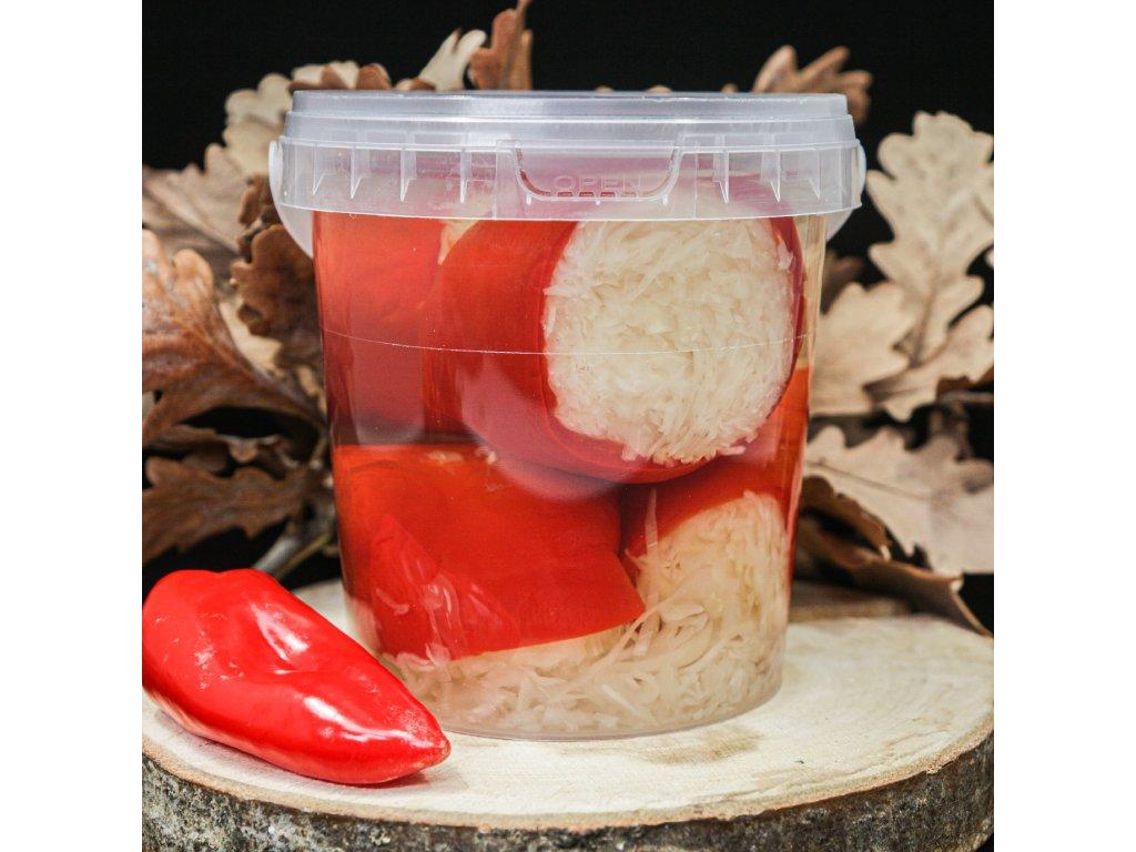 Maďarská nakládaná paprika se zelím červená