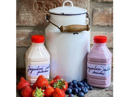 Jogurtové mléko- jahoda