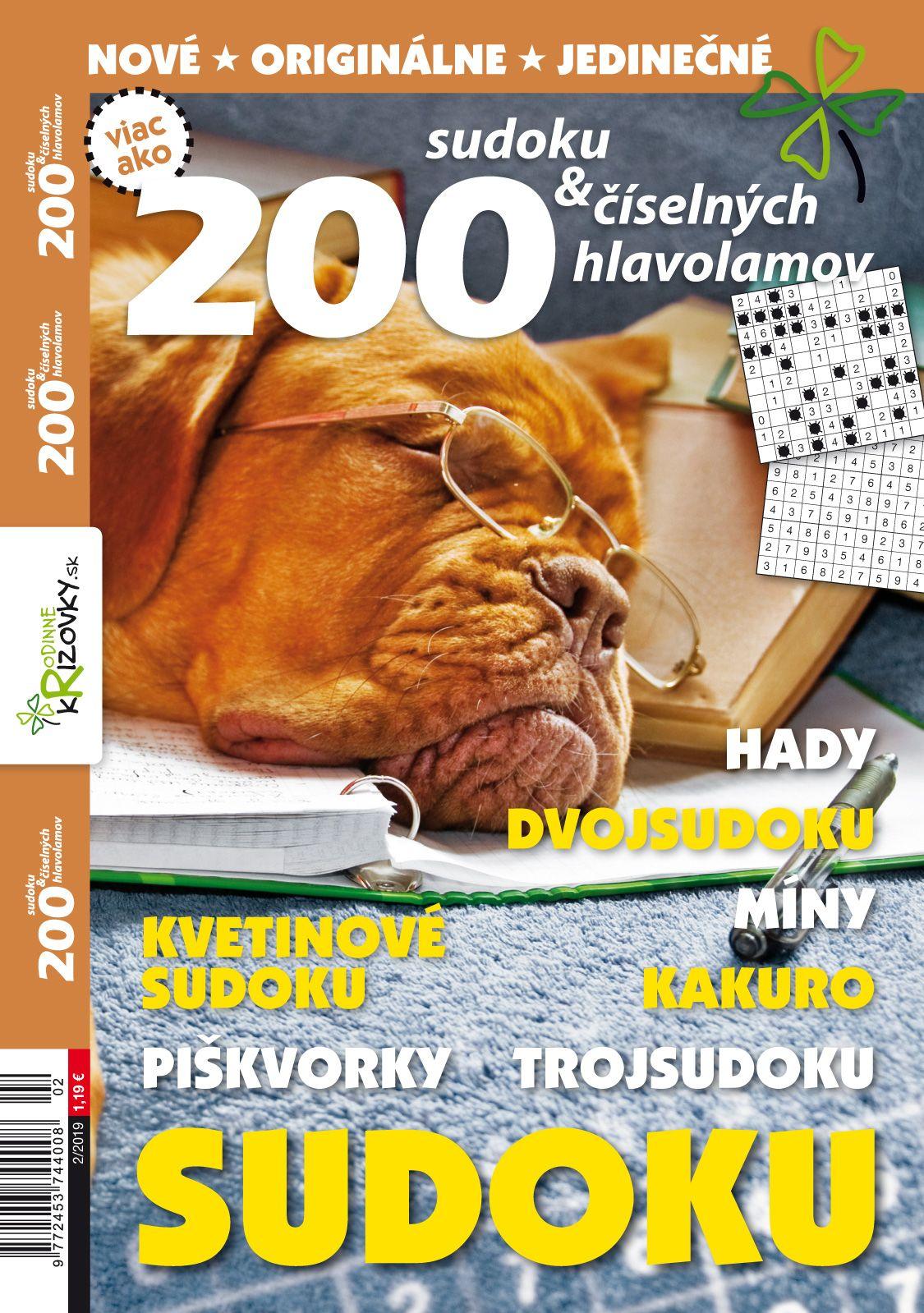 200 Sudoku a iných číselných hlabolamov 22019