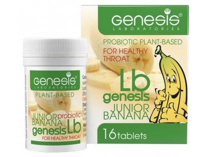 Probiotické pastilky pro děti LB banán  pastilky pro zdravá ústa a krk