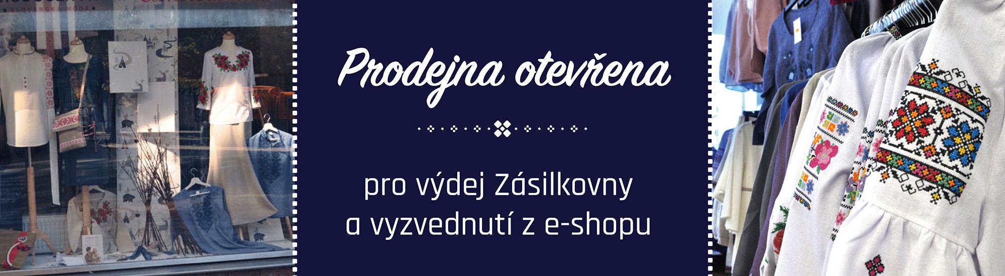 Otevřeno pro vyzvednutí balíků Zásiilkovny a e-shopu