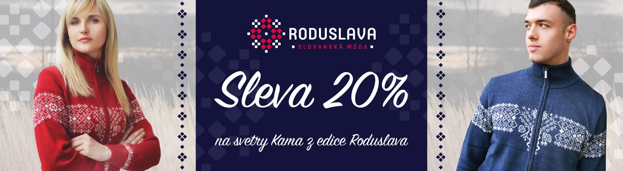 Kama svetry od Roduslavy se slevou 20%