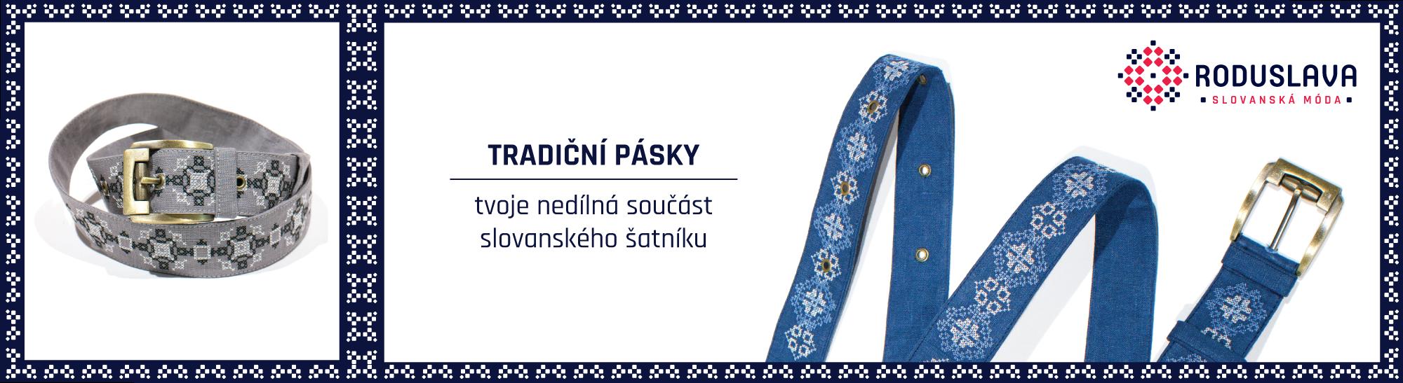Tradiční slovanské pánské pásky