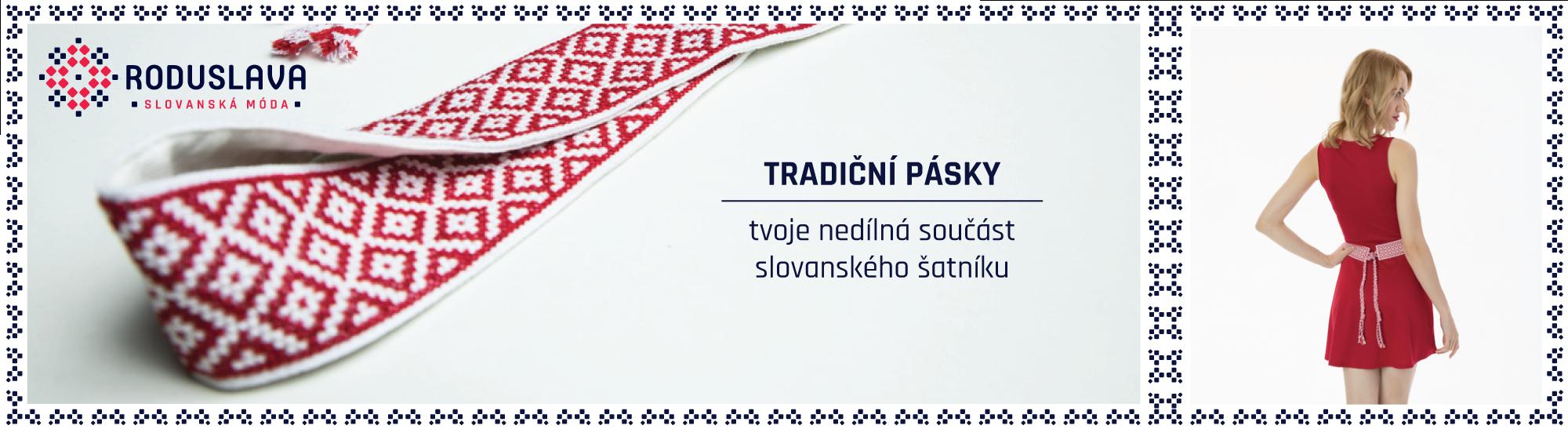 Tradiční slovanské  pásky od Roduslavy