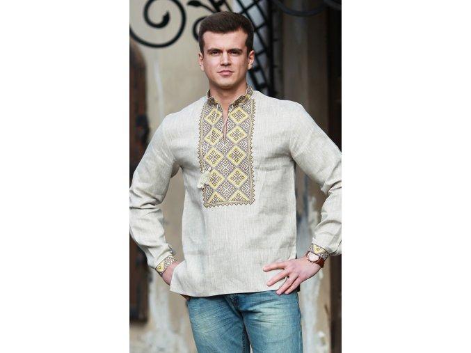 Pánská vyšívaná košile Čestmír