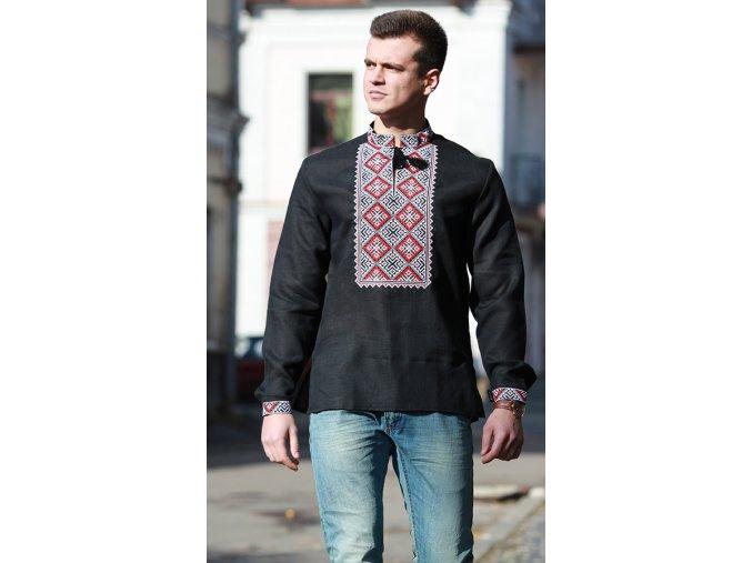 Pánská vyšívaná košile Boleslav