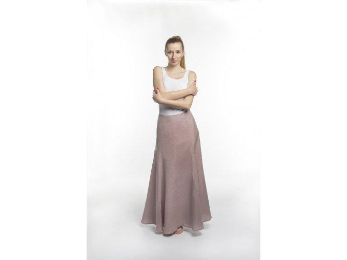 Dámská šestidílná sukně starorůžová
