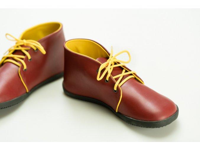 Bindu Comfort Ankle Červeno žlutá