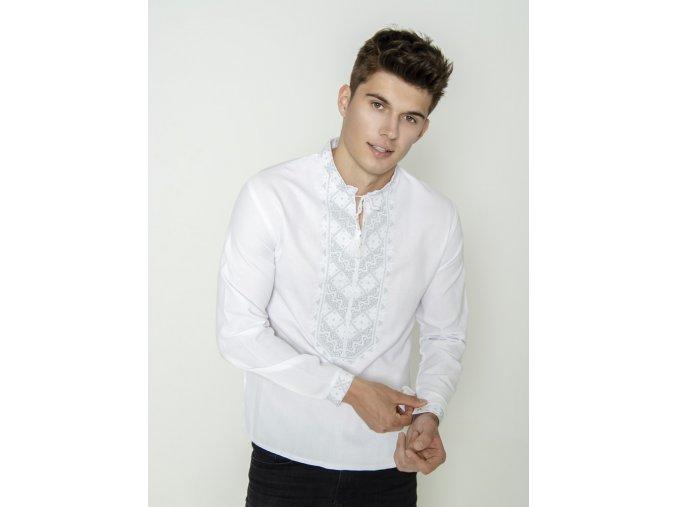 Pánská vyšívaná košile Zlatoslav 1