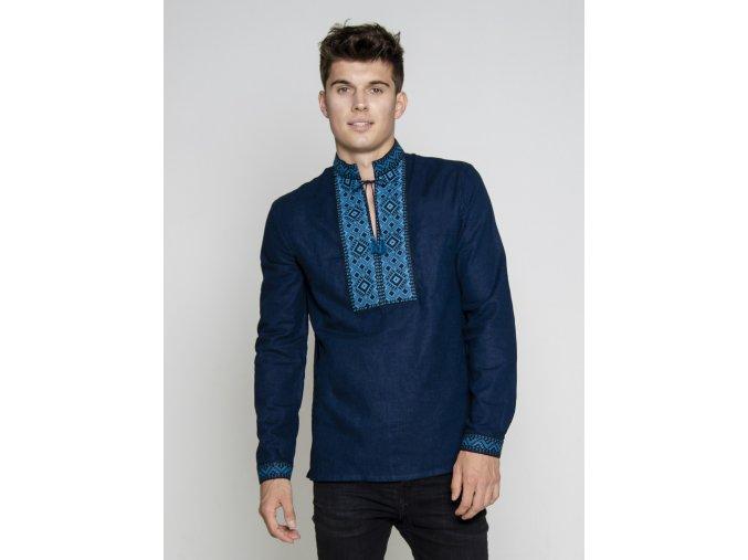 Pánská vyšívaná košile Veleslav