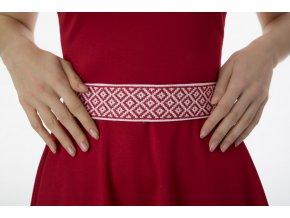 Pásek JaRa s červenou výšivkou