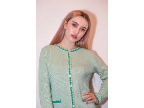 Bavlněný svetřík Kooi zelený