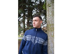 Modrý vlněný svetr edice Roduslava