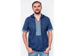 Pánská vyšívaná košile s kapucí 2