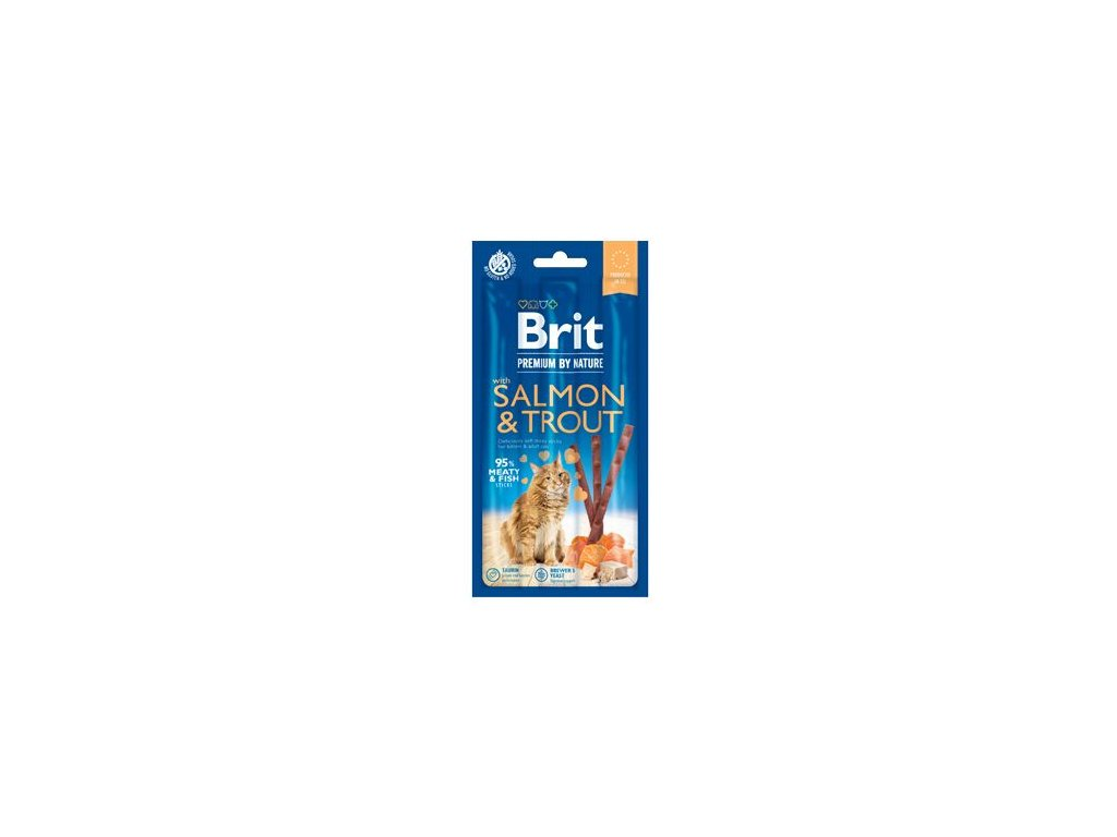 Brit Premium by Nature Cat Snack with Salmon & Trout 3 ks