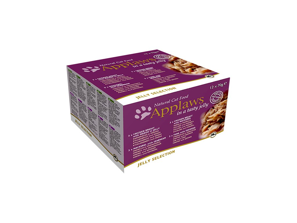 Konzervy APPLAWS Jelly selection multipack 12 x 70 g (840g)