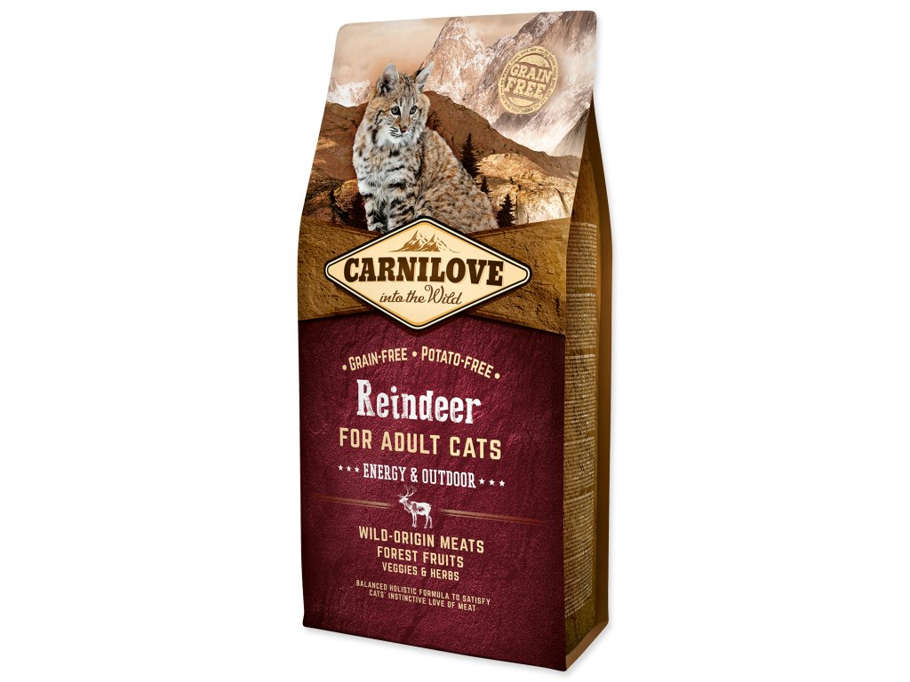 CARNILOVE Reindeer Adult Cats Energy and Outdoor (6kg)