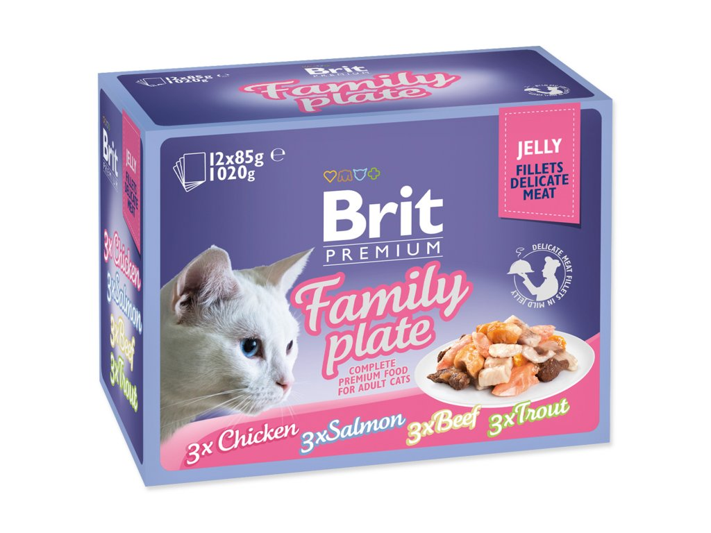 Brit Premium Cat Delicate Fillets in Jelly Family Plate 1020 g (12x85 g)