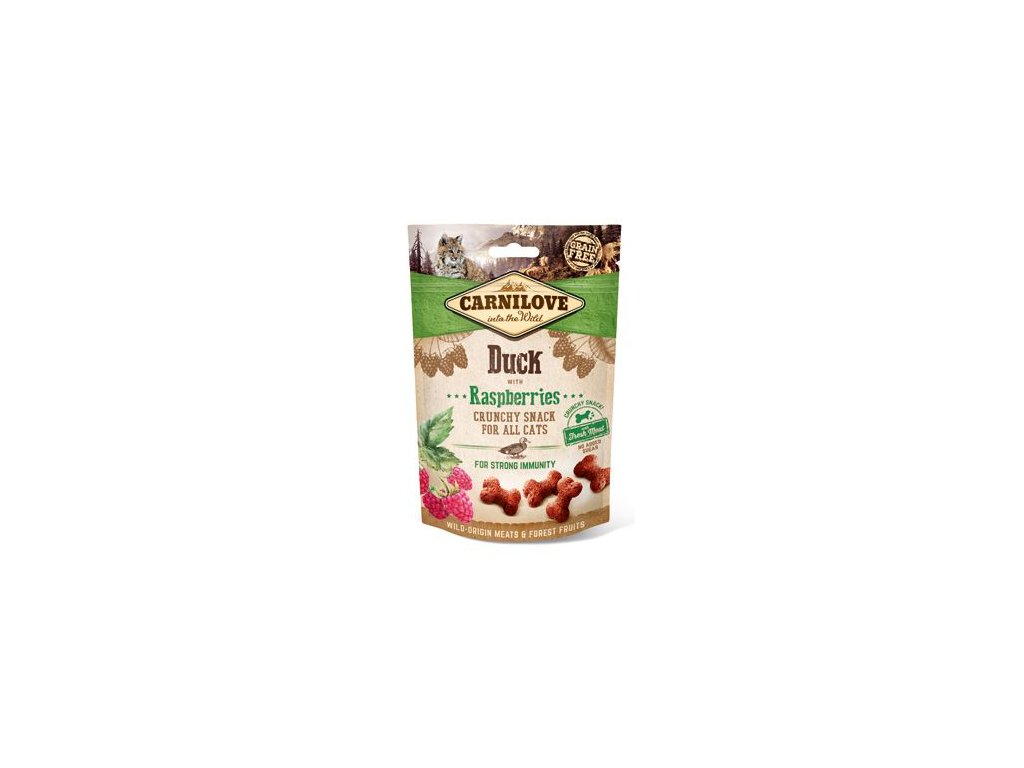 CARNILOVE Cat Crunchy Snack Duck with Raspberries with fresh meat (50g)