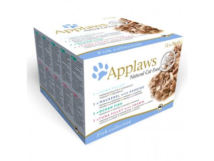 Konzervy APPLAWS Fish Selection multipack 12 x 70 g (840 g)