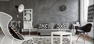Černobílý interiér - vrchol elegance