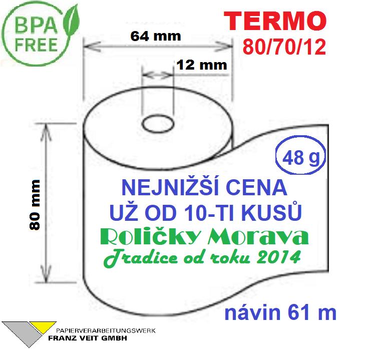 Termo 80/70/12 1ks=16,90 Kč cena za: 55g/m² 1 ks kotouček