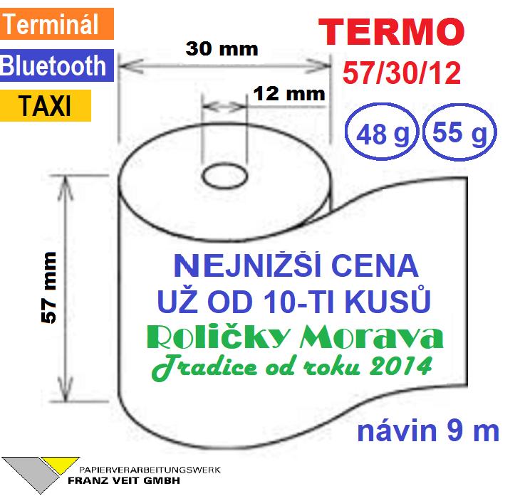 Termo 57/30/12 1ks=5,09 Kč cena za: 1 ks kotouček