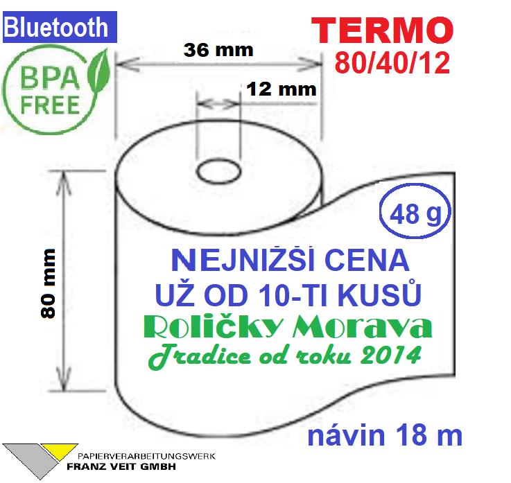Termo 80/40/12 18 m-1ks=11,79 Kč cena za: 55g/m² 1 ks kotouček