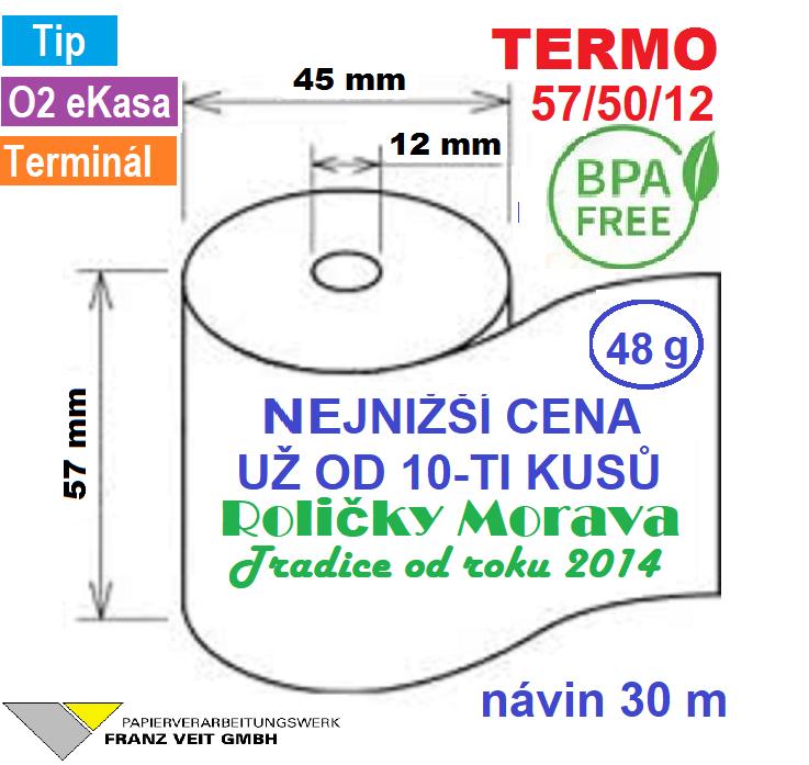 Termo 57/50/12 30 m-1ks=6,49 Kč cena za: 55g/m² 120 ks v kartonu