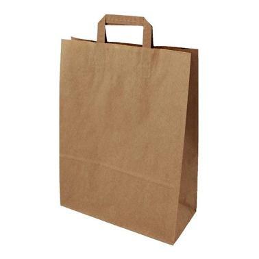 Papírová taška 320x120x410 2,50 Kč bez DPH za 1 ks od 50 ks cena za: 1 ks, Barva: Hnědá ploché ucho. Bílá, nebo hnědá.