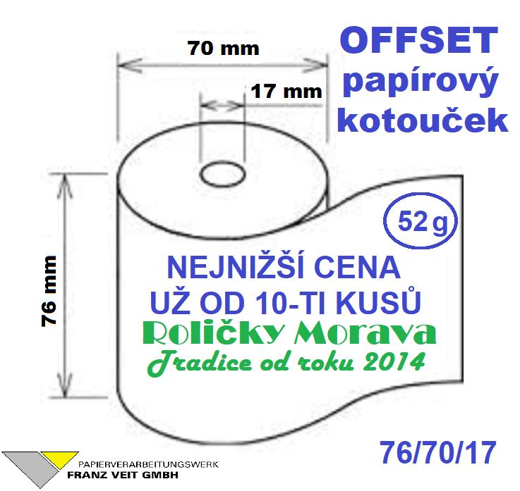Offset 76/70/17-1ks=7,38 Kč cena za: 1 ks kotouček