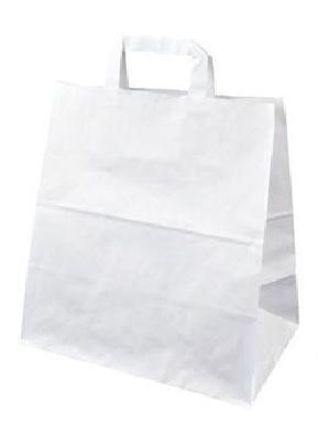 Papírová taška 320x170x270 mm 3,50 Kč bez DPH od 50-ti ks cena za: 1 ks, Barva: Bílá ploché ucho. Bílá, nebo hnědá.