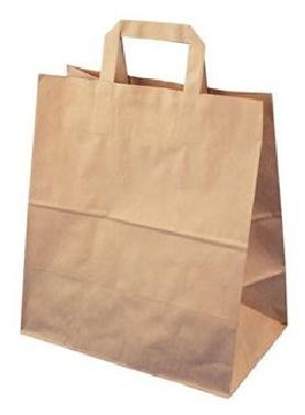 Papírová taška 320x170x270 mm 3,50 Kč bez DPH od 50-ti ks cena za: 1 ks, Barva: Hnědá ploché ucho. Bílá, nebo hnědá.