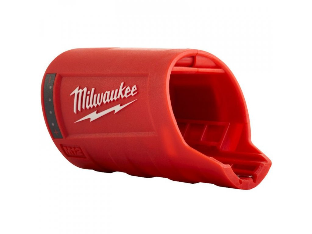 2956 milwaukee napajeci adapter k bunde s usb a indikaci baterie