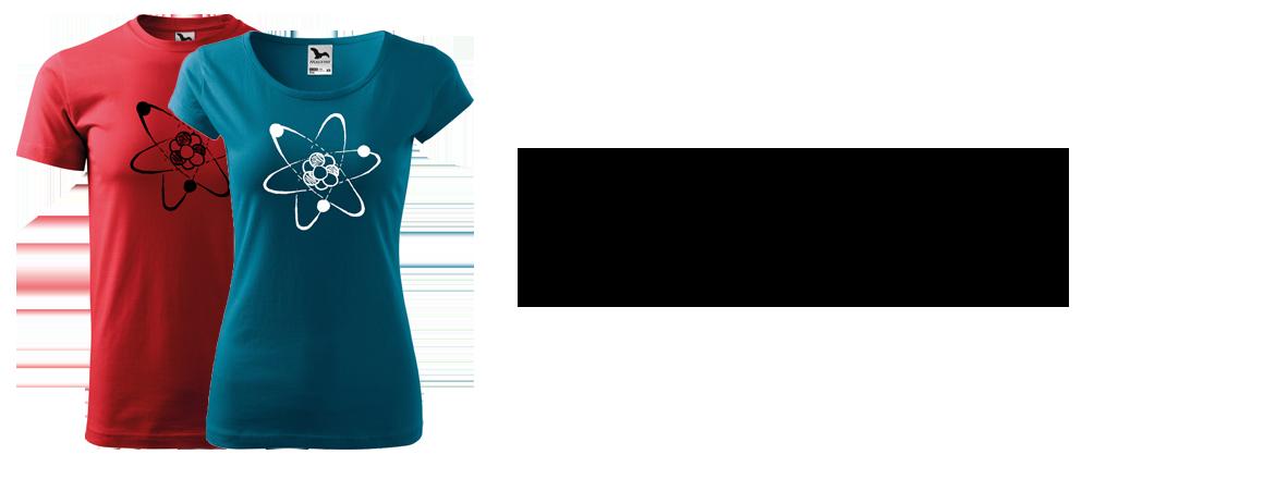 Ručně malované triko - Atom