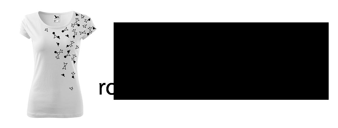 Ručně malované triko - Molekuly