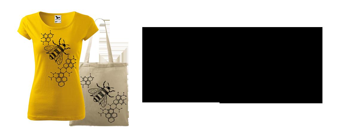 Ručně malované triko - Včela