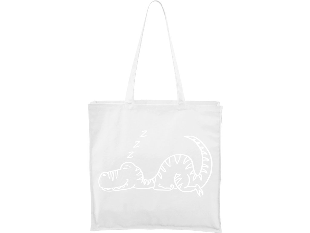 Plátěná taška Carry červená s černým motivem - Dinosaur