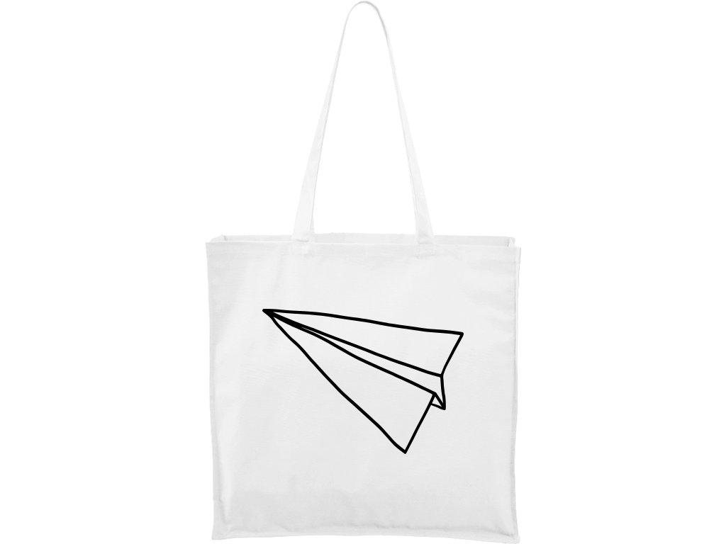 Plátěná taška Carry bílá s černým motivem - Samotná šipka
