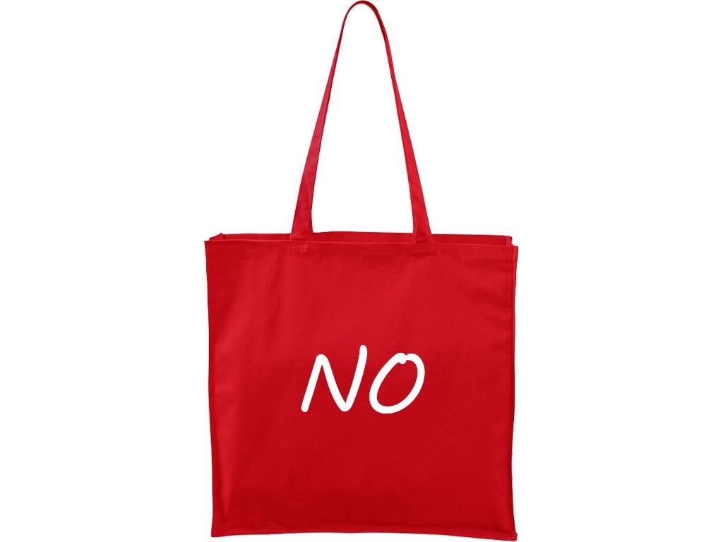 Plátěná taška Carry červená s bílým motivem - No